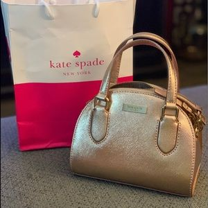 NWT Kate Spade Micro Reiley Laurel Way Rose Gold